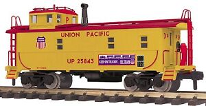 70-77035 MTH ONE GAUGE Union Pacific Offset Steel Caboose (#25843)