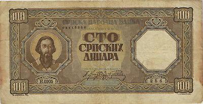 Ro.611 Besetzung Serbien 100 Dinara 1943 (4)