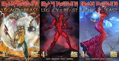 Iron Maiden Legacy of the Beast #4 SET OF 3 CVR A B C Comic Book NM First Print