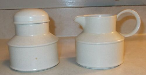 Vintage MIDWINTER Stonehenge Tableware Creamer and Lidded Sugar Bowl England