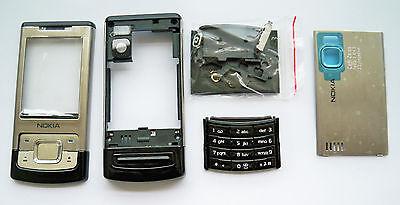Full Silver Housing Fascia Facia Cover case for Nokia 6500s 6500 slide