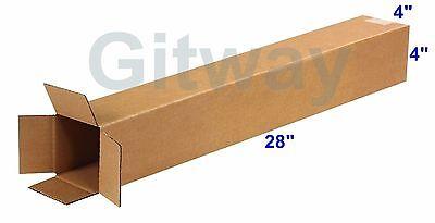 25 4x4x28 Tall Long Cardboard Shipping Golf Club Driver Pole Box Boxes 28x4x4