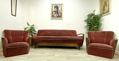 Mid Century German Bentwood Day Bed Sofa & 2 Armchairs - Project SP19#