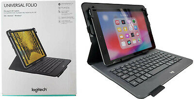 Logitech Universal Folio Keyboard Case Fits iOS Android & Windows Tablets