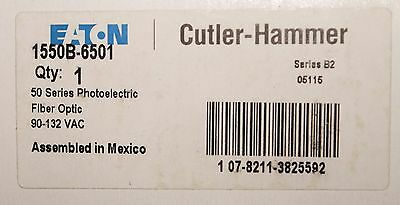 EATON CUTLER HAMMER 1550B 6501 Fiber Optic 50 Series Photoelectric Sensor Fiber Photoelectric Sensor
