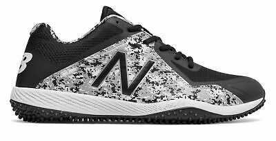 New Balance Low-Cut 4040V4 Turf Baseball Cleat Mens Shoes Black With White ()
