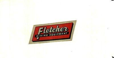 NICE OLDER LATE 70'S FLETCHER COAL MINING STICKER # 888