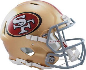 SAN FRANCISCO 49ERS RIDDELL NFL FULL SIZE AUTHENTIC SPEED FOOTBALL HELMET