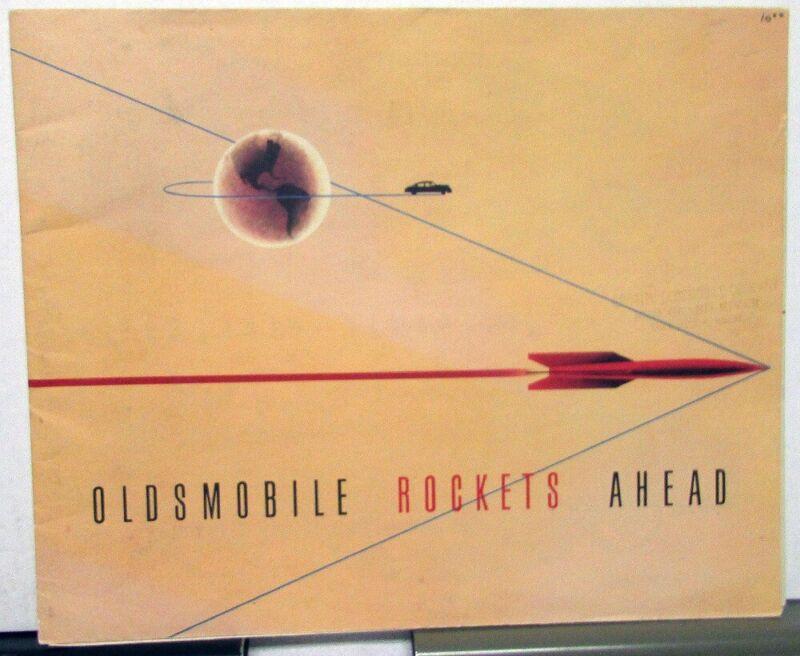 1950 Oldsmobile 88 98 76 Color Sales Brochure Poster Original VERY COLORFUL