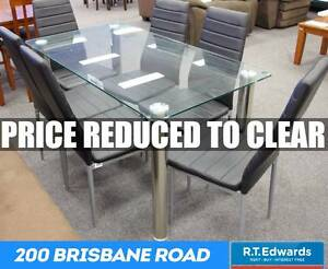 Zoe Elegant 7 Piece Glass Dining Suite Booval Ipswich City Preview