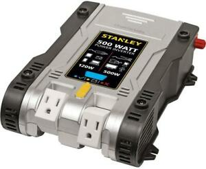 STANLEY 500 WATT POWER INVERTER -- OUR PRICE $39.95 -- Big Box store price $109.99 -- SEE FOR YOURSELF !!!