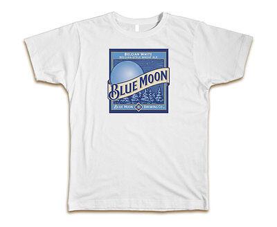 Blue Moon Beer Custom Mens T-Shirt Tee S-3XL New-White