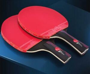 I Need That! Professional Carbon Fiber Table Tennis Racket Blade With Double Face Pimples-in Original Ping Pong With Bag