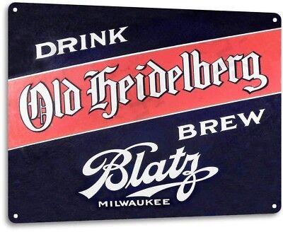 """Blatz Old Heidelberg Beer"" Metal Art Store Pub Brew Shop Bar Pub Sign"