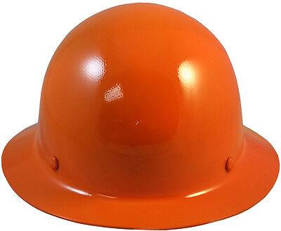 Msa Orange Skull Gard Fiberglass Fb Hard Hat With Ratchet Or Pin Lock Susp
