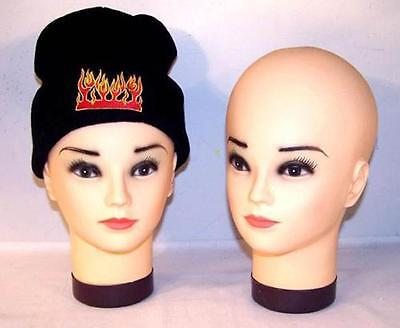 PAINTED RUBBER HEAD DISPLAY FOR HATS SCARVES BANDANA mannequin heads sales tool - Bandanas For Sale