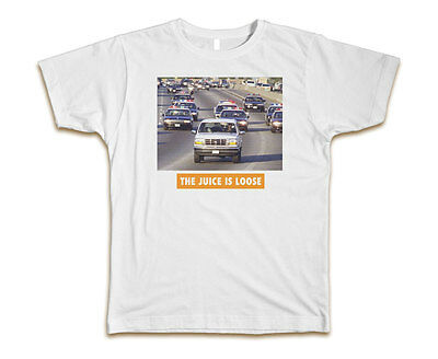 The Juice Is Loose Oj Simpson Custom Mens T Shirt Tee S 3Xl New White