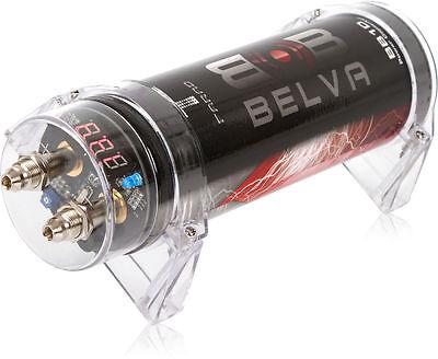 Belva BB1D 1.0 Farad Car Audio Power Capacitor/Cap w/ Digital Red Display