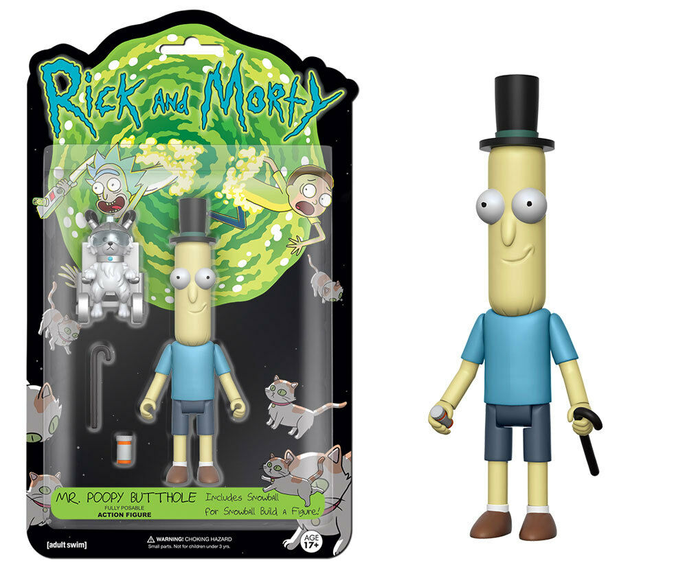 "New Authentic MR. Poopy Butthole Rick and Morty 5"" Figure IN"