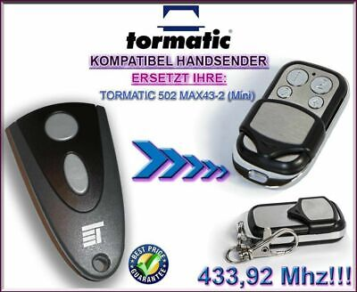433 Mhz Mini (Tormatic 502 MAX43-2 Mini Kompatibel Handsender, Ersatz sender 433,92Mhz)