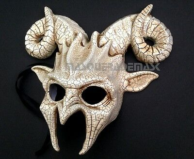 Ram Goat Masquerade Ball Mask Horn Halloween Costume Haunt House Party Wall - Goat Halloween Costume