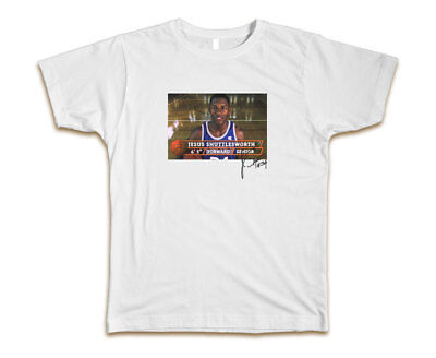 Jesus Mens Tee (Jesus Shuttlesworth Custom Mens Fashion T-Shirt Tee S-3XL New-White)
