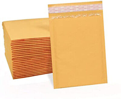 100 Pack - 8.5x14.5 3 Kraft Bubble Mailers Padded Envelope Shipping Bags Seal