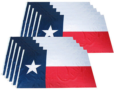 10 Pack 3x5 Ft Texas State Flag Lone Star Tx Flag Wholesale Lot Polyester B