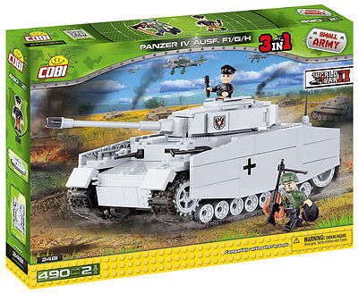 Small Army 2481, WW II German medium tank Panzer IV ausf H, 400 building bricks