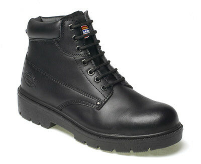 - Dickies Mens Antrim Safety Work Boots Size UK 4 - 13 Steel Toe Cap Black FA23333