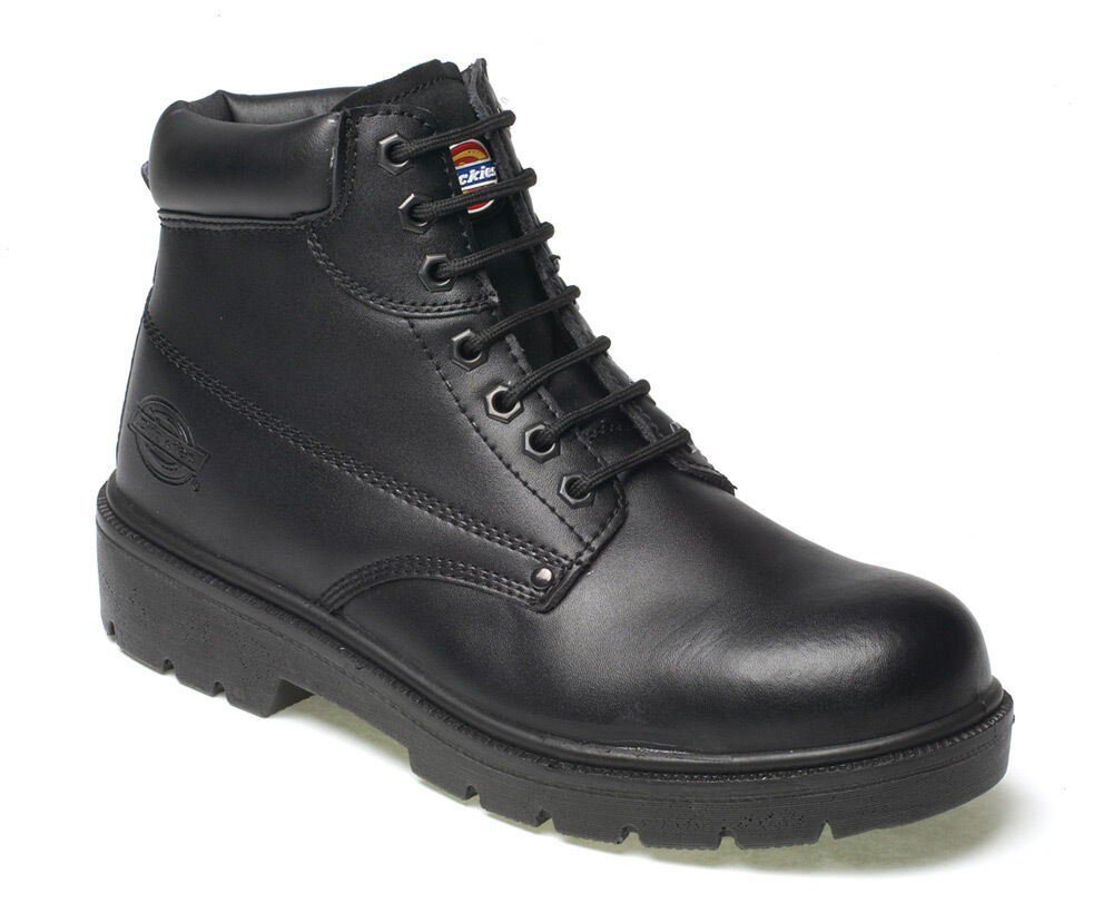 Dickies Mens Antrim Safety Work Boots Size UK 4-13 Steel Toe Cap Black FA23333