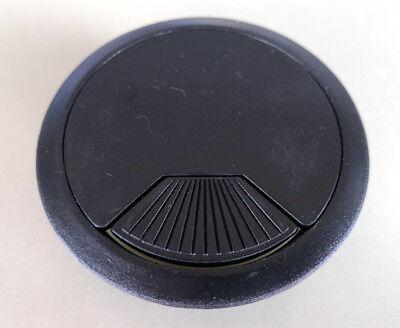 Schwarz Schreibtisch Tülle (Schwarz 60mm Computer Schreibtisch Durchführungstülle, Tisch Kabelbinder Loch)