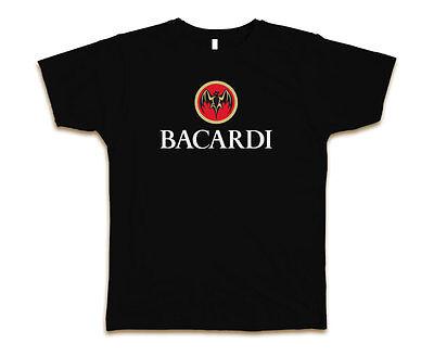 Bacardi Logo Custom Mens Fashion T-Shirt Tee S-3XL New-Black