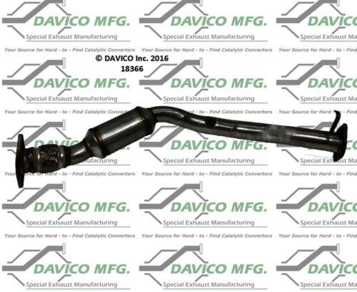 Catalytic Converter-Exact-Fit Rear Davico Exc CA 19044