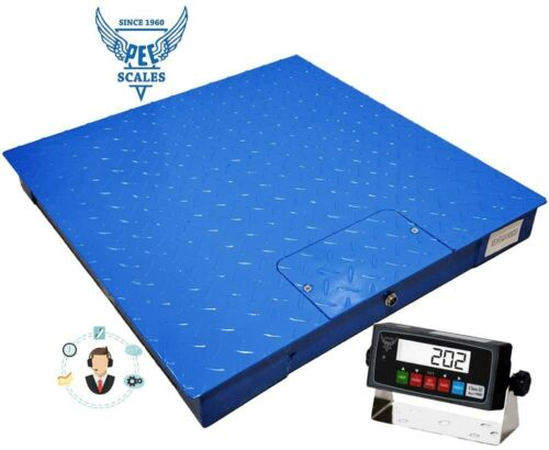 "Industrial Floor Scale 48"" x 48"" 5000LB/0.5LB"
