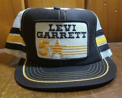 Vintage Trucker Levi Garrett Racing 5 ~ Snap Back Patch Hat ~ Made in the USA