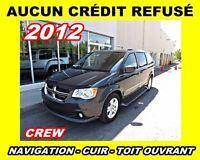 2012 Dodge Grand Caravan Crew*nav,cuir,toit ouvrant*