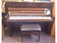 Steinhoven Upright Piano | Polished Walnut | Immaculate | 5 years old| Adjustable Stool | Tuned