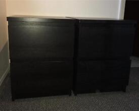 Bedside cabinets - pair