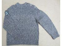 Boy's blue knit jumper, Vertbaudet, 8 yrs