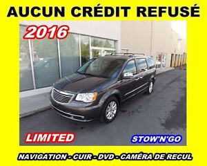 2016 Chrysler Town & Country Limited*navi,cuir,caméra de recul*
