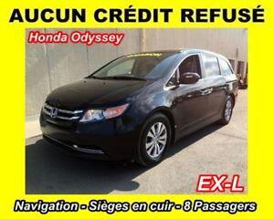 2014 Honda Odyssey EX-L**8 PASSAGERS**NAV**TOIT OUVRANT**