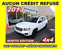 2013 Jeep Compass **Toit ouvrant, Mags, 4x4**AUCUN CREDIT REFUSE