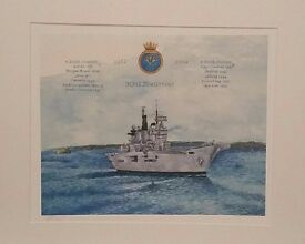 Last chance to purchase a signed print of HMS ILLUSTRIOUS by Stephen J Edwards