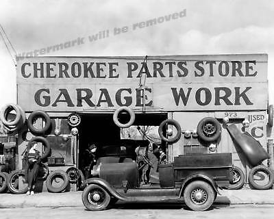 Photograph Auto Parts / Tires Vintage Store Georgia Year 1936 11x14 ()