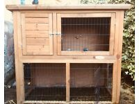 Two tier rabbit/guinea pig hutch - great condition