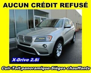 2011 BMW X3 xDrive28i Cuir Toit panoramique Bluetooth