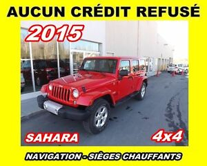 2015 Jeep WRANGLER UNLIMITED **SAHARA**NAVIGATION**2 TOITS**