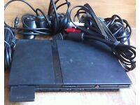 Sony Playstation 2 PS2 Slim with 1 remote controller and 5 games for sale