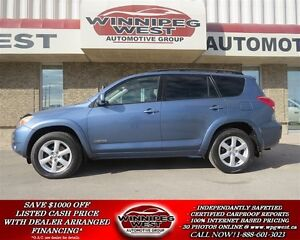 2007 Toyota RAV4 RARE LIMITED V6 4X4, LEATHER, SUNROOF, ONLY 69K
